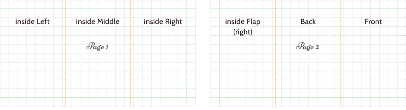 tri fold layouts